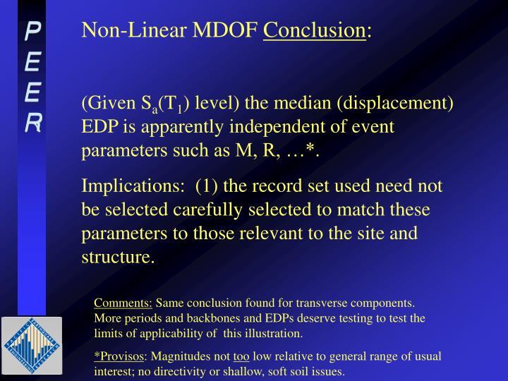 Non-Linear MDOF