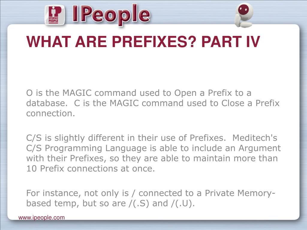 What are Prefixes? Part IV