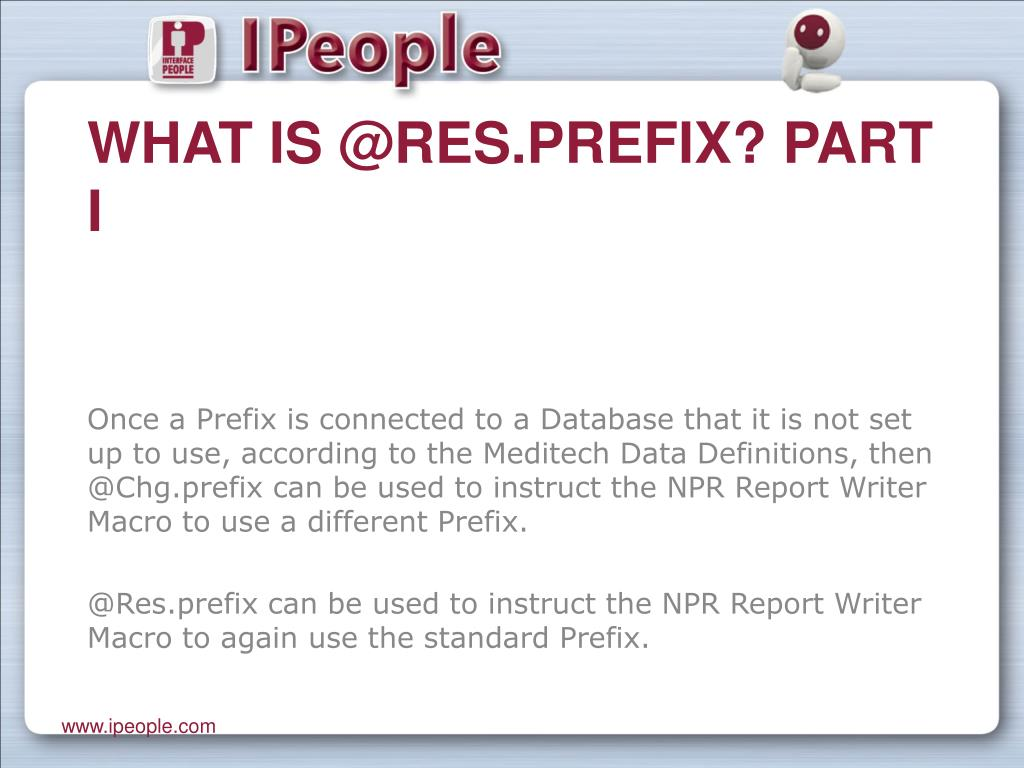 What is @Res.prefix? Part I