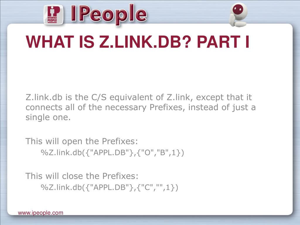 What is Z.link.db? Part I