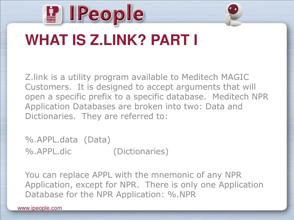 What is Z.link? Part I