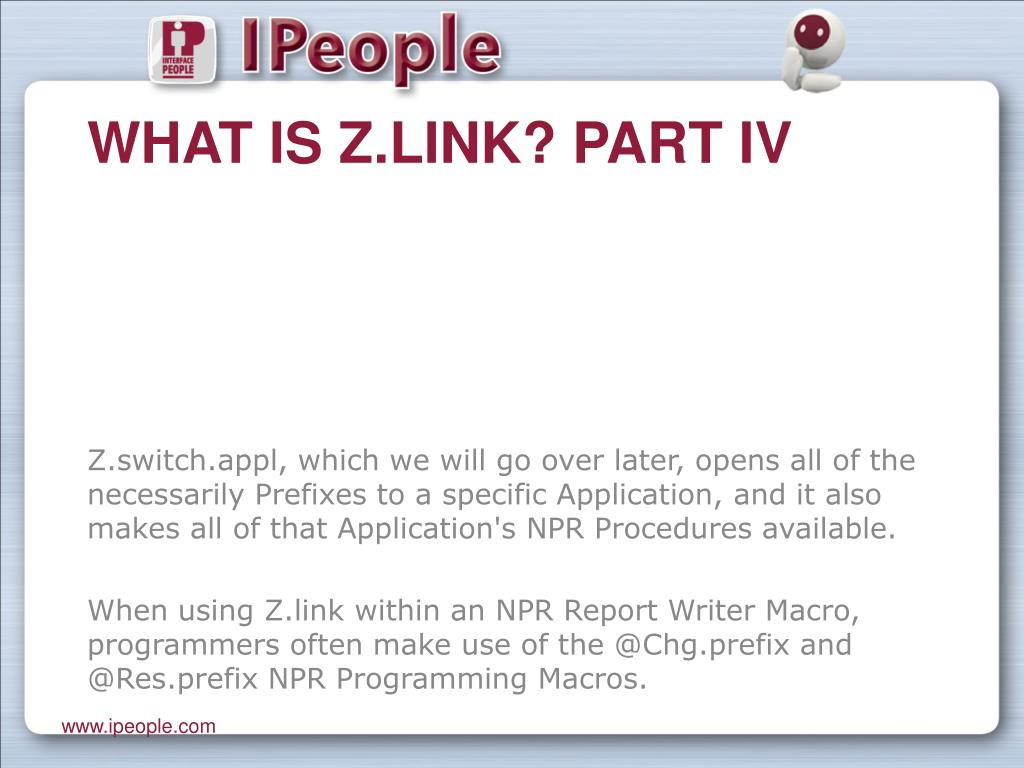 What is Z.link? Part IV