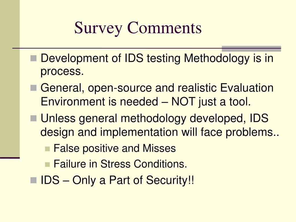 Survey Comments