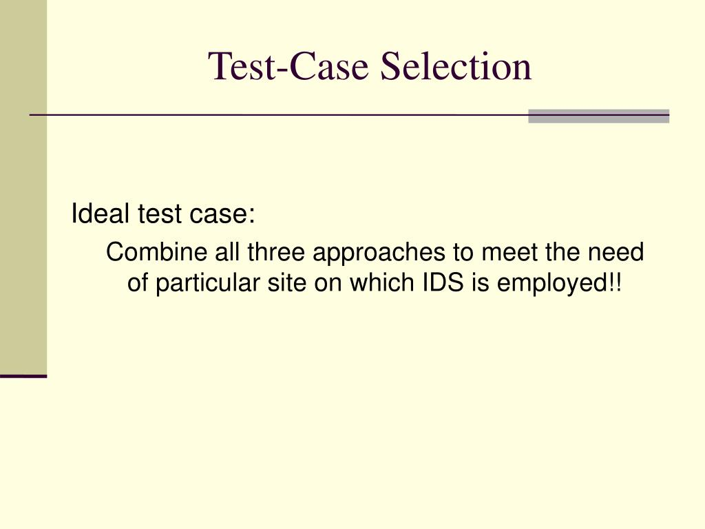 Test-Case Selection