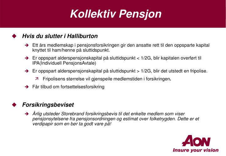 Kollektiv Pensjon