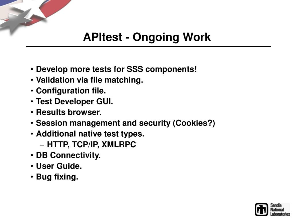 APItest - Ongoing Work