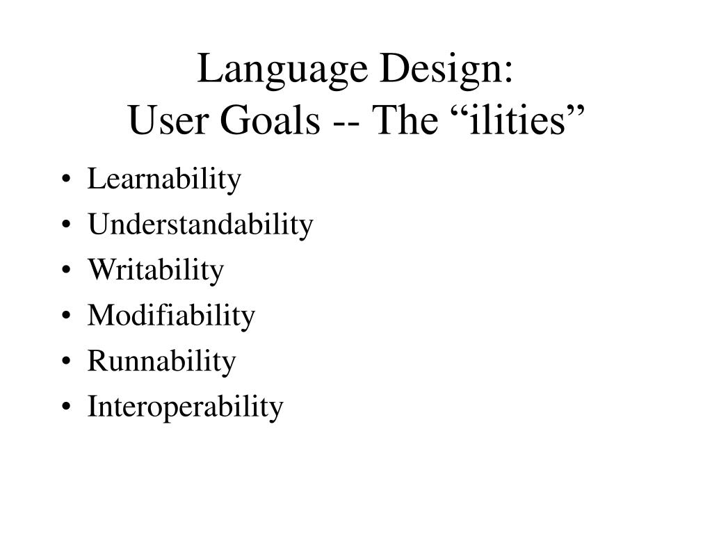 Language Design: