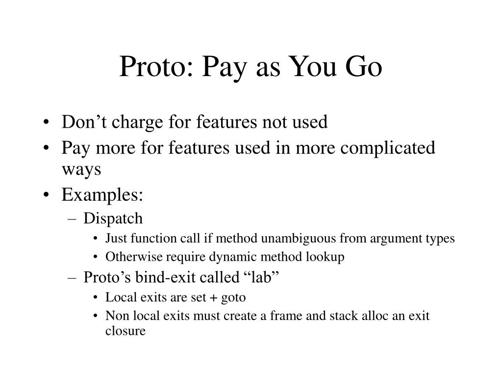 Proto: Pay as You Go
