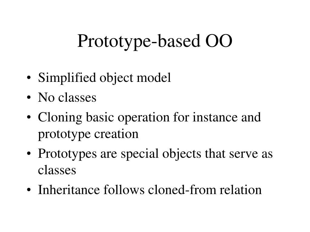 Prototype-based OO