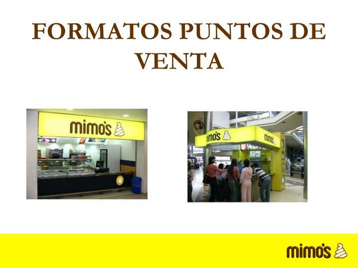 FORMATOS PUNTOS DE VENTA