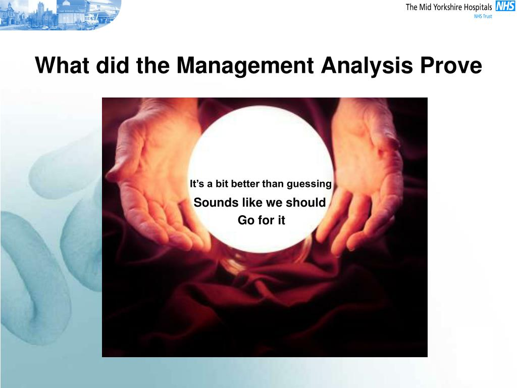 What did the Management Analysis Prove