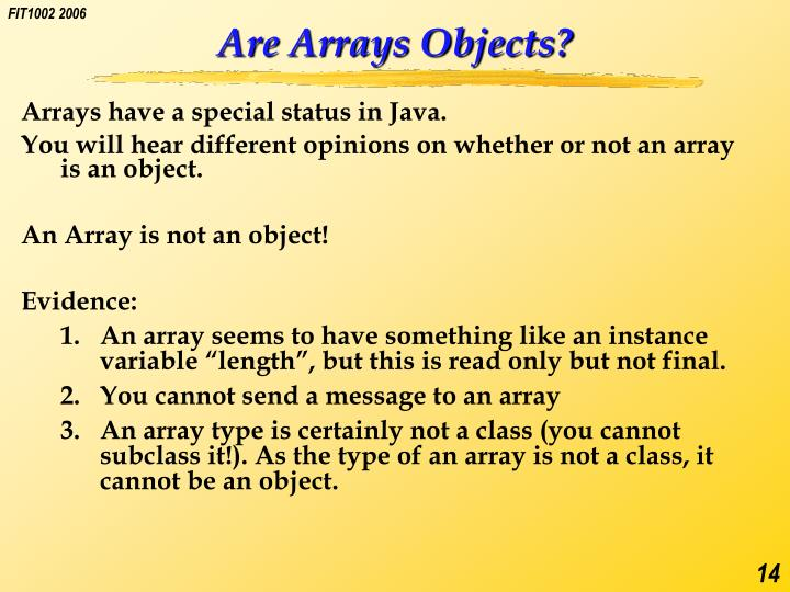 Are Arrays Objects?