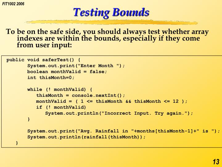 Testing Bounds
