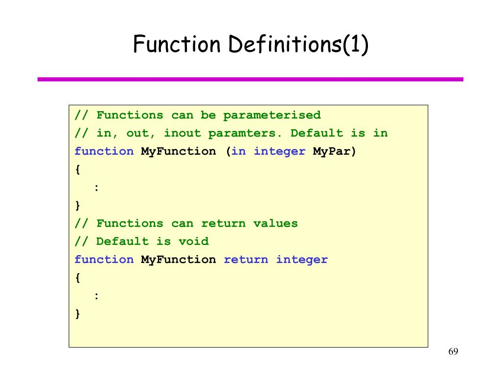 Function Definitions(1)