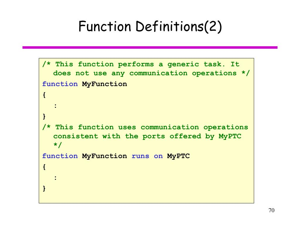 Function Definitions(2)