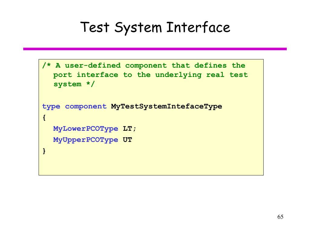 Test System Interface
