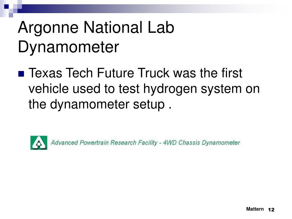 Argonne National Lab Dynamometer