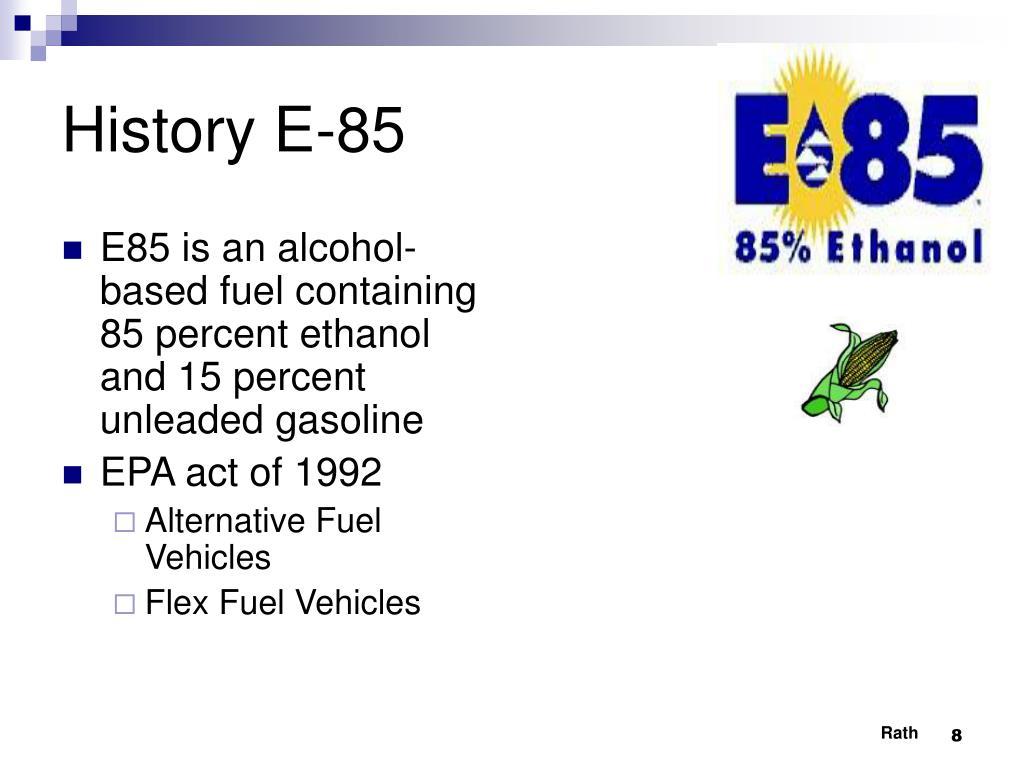 History E-85