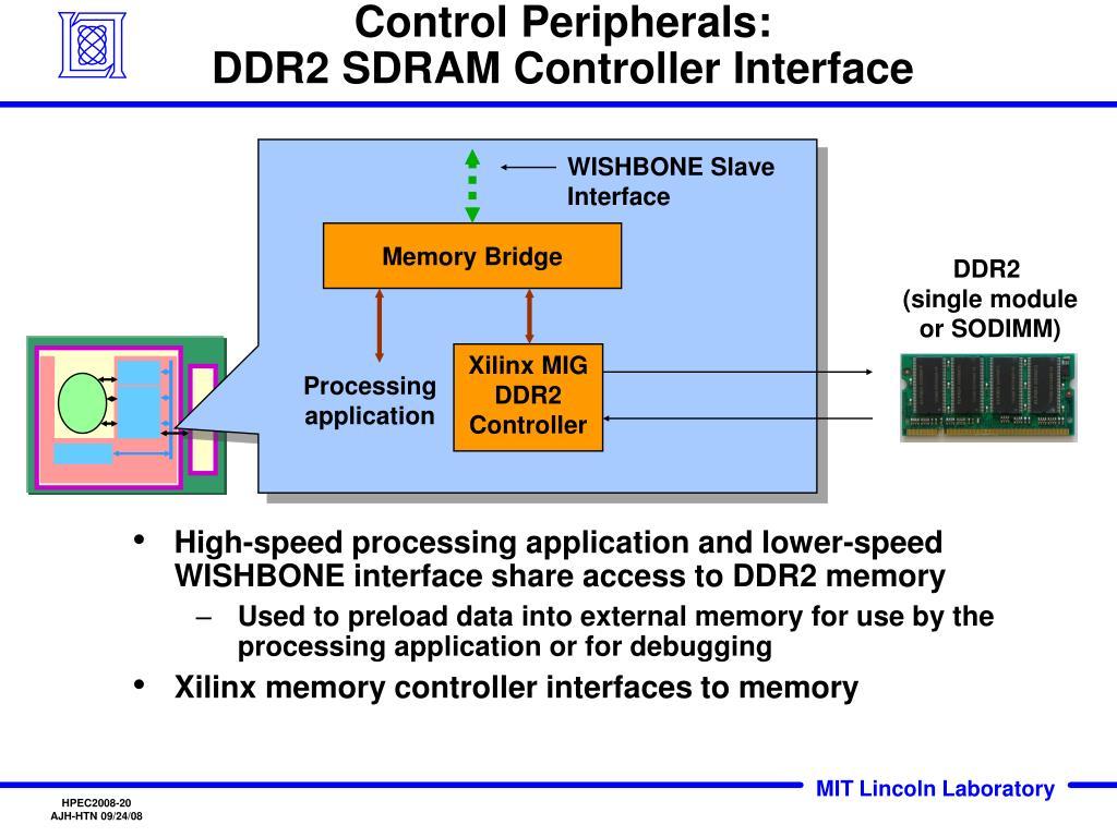 Control Peripherals: