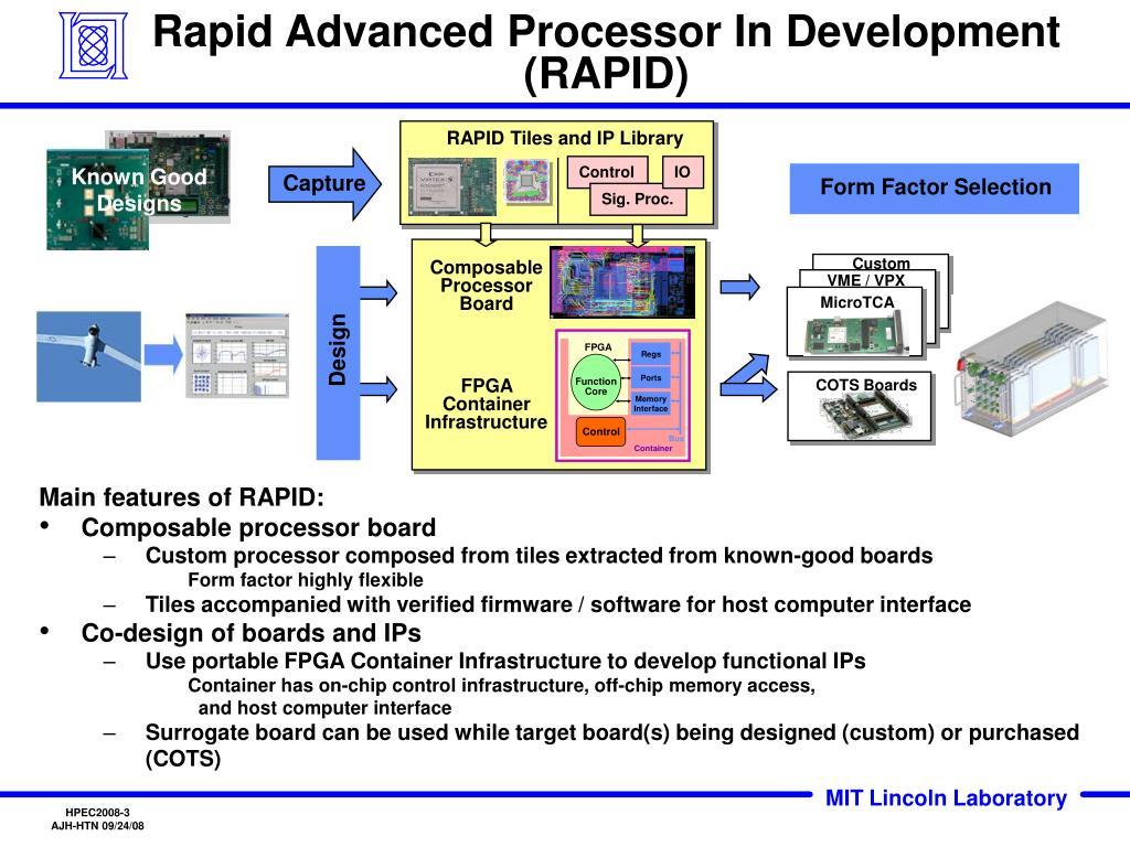 Rapid Advanced Processor In Development (RAPID)