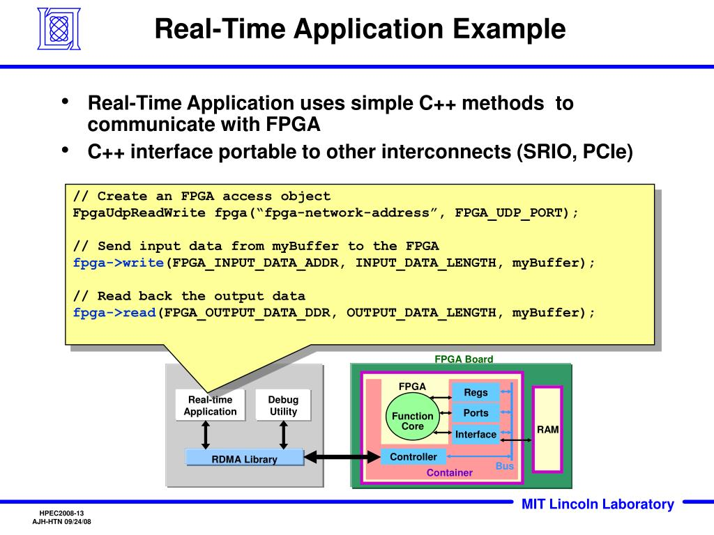 Real-Time Application Example