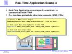 real time application example