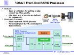 rosa ii front end rapid processor