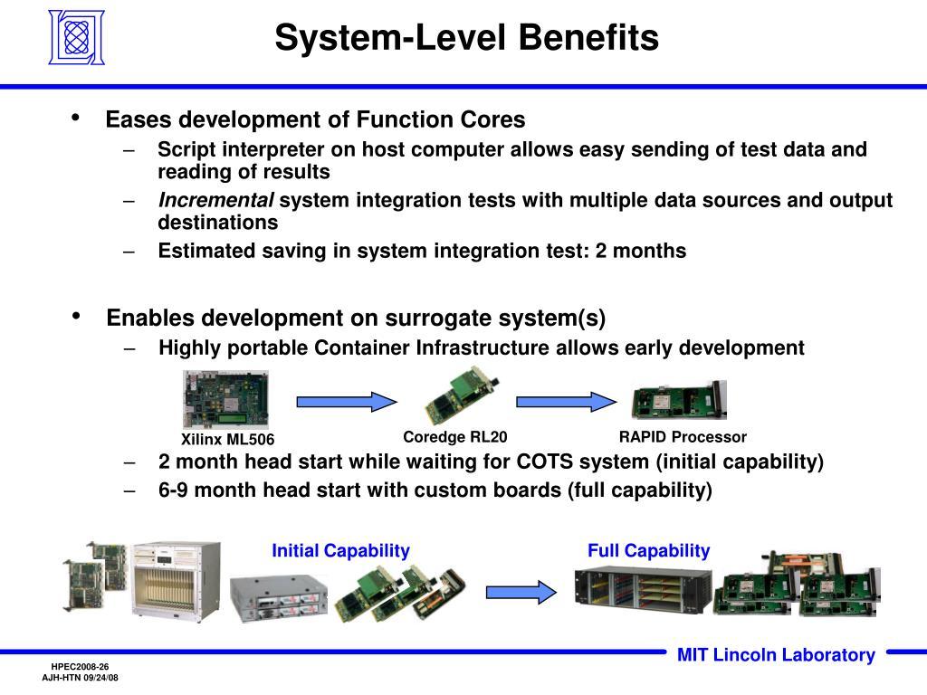 System-Level Benefits