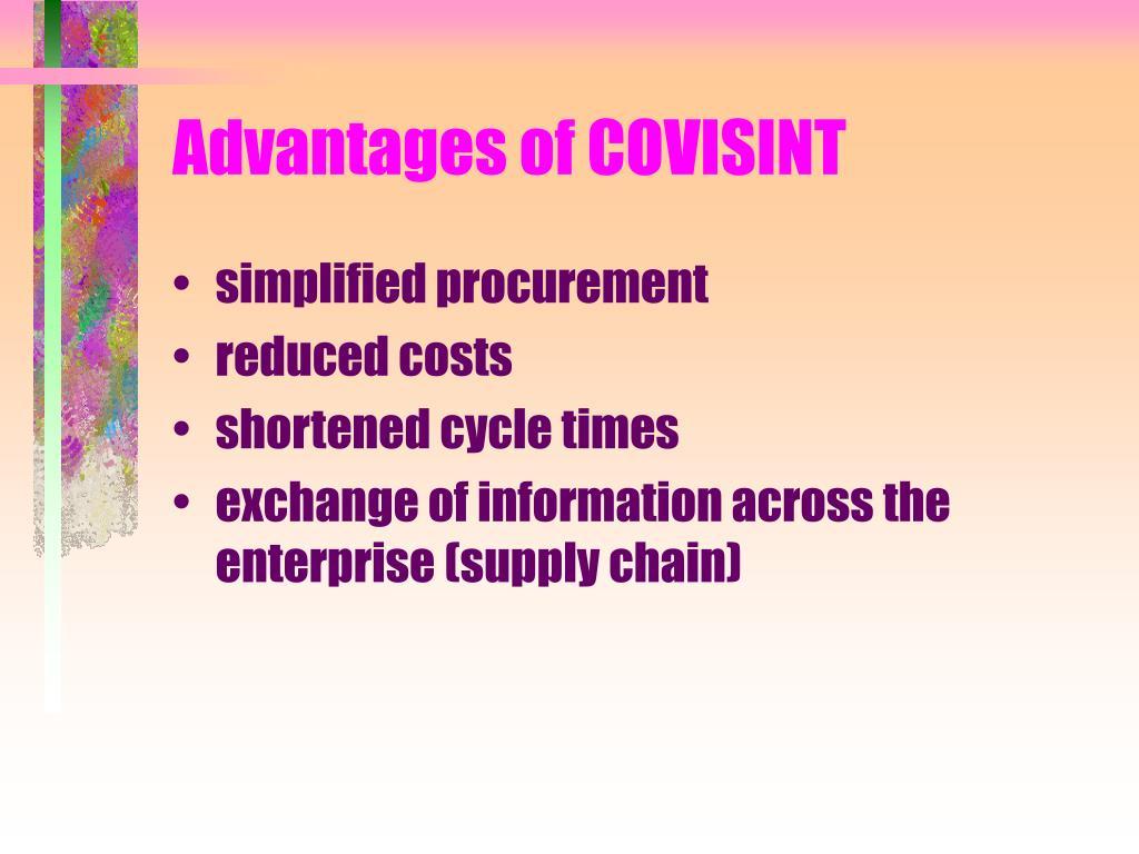Advantages of COVISINT