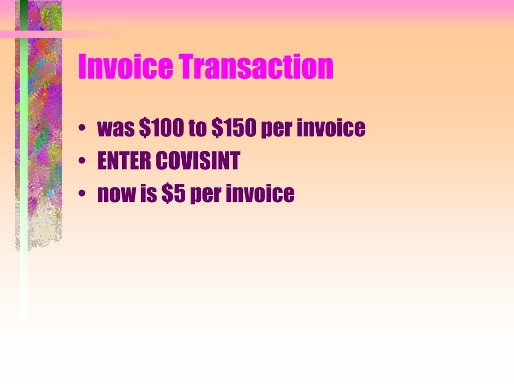 Invoice Transaction