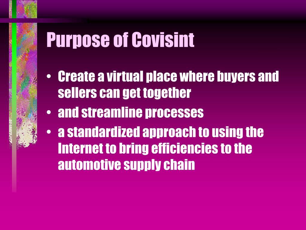 Purpose of Covisint