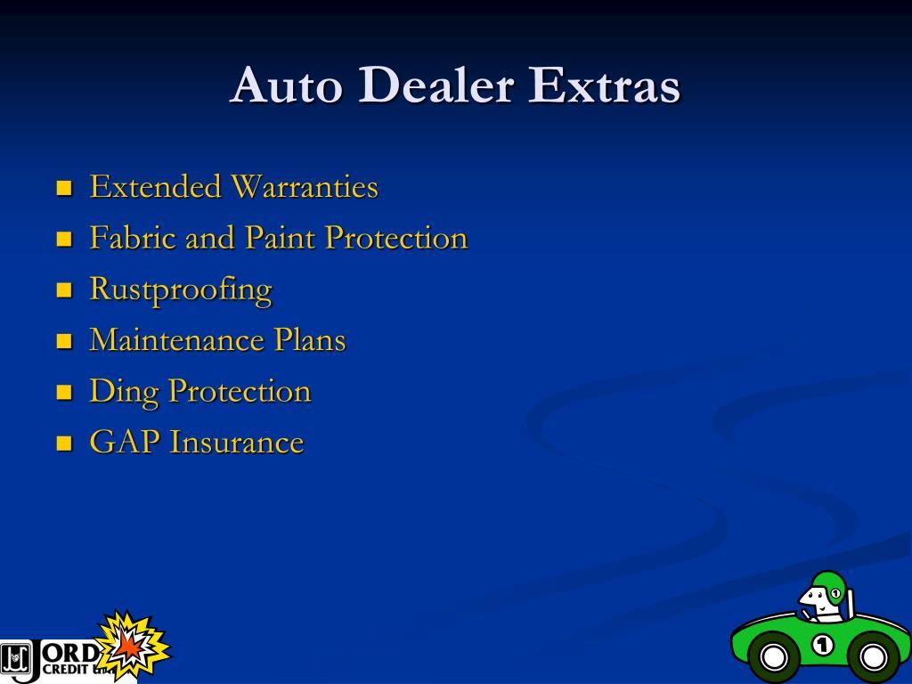 Auto Dealer Extras