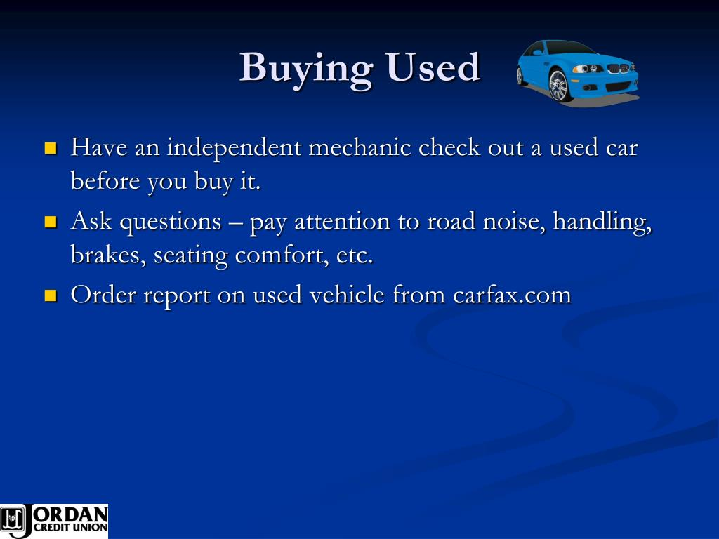 Buying Used