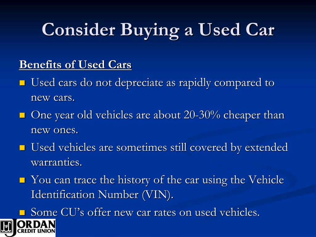 Consider Buying a Used Car