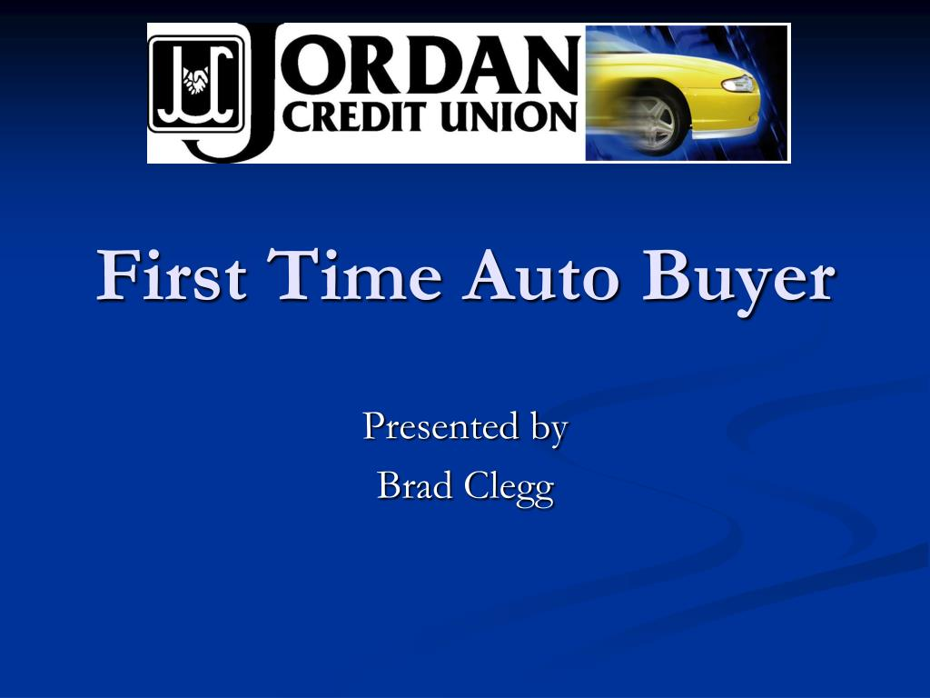 first time auto buyer