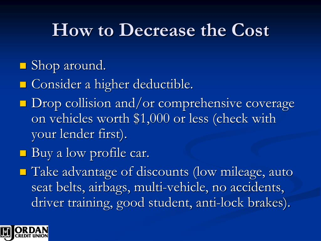 How to Decrease the Cost