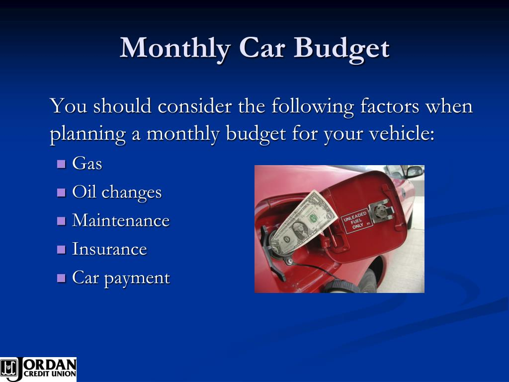 Monthly Car Budget