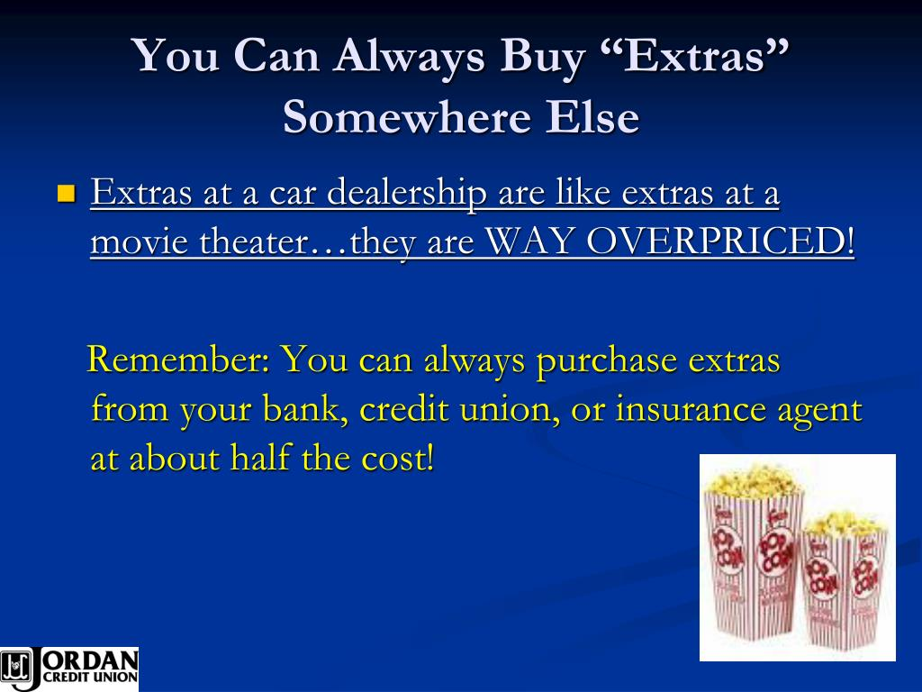 """You Can Always Buy """"Extras"""" Somewhere Else"""