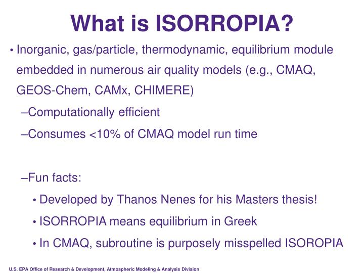 What is ISORROPIA?
