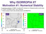 why isorropia ii motivation 1 numerical stability