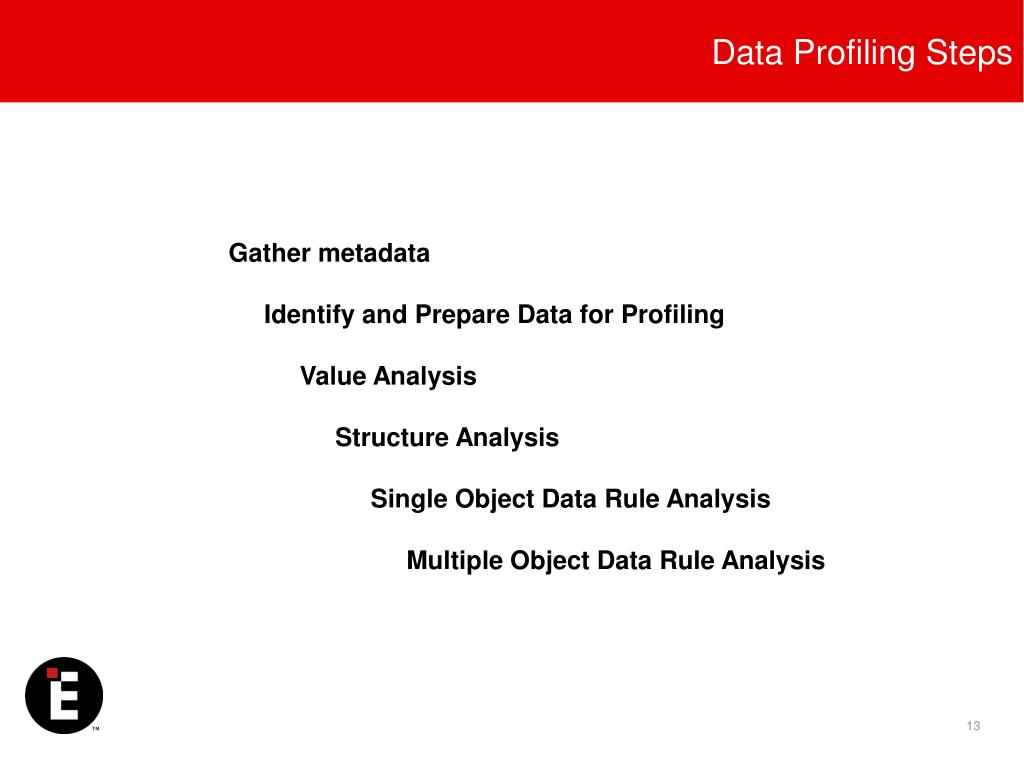 Data Profiling Steps