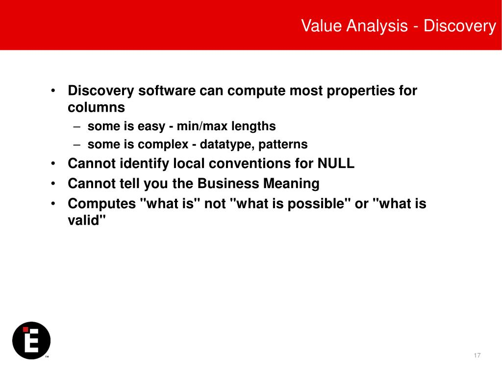 Value Analysis - Discovery