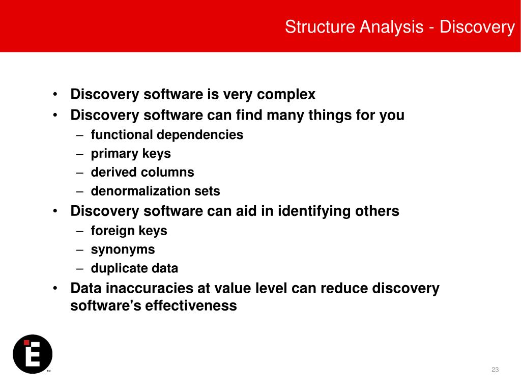 Structure Analysis - Discovery