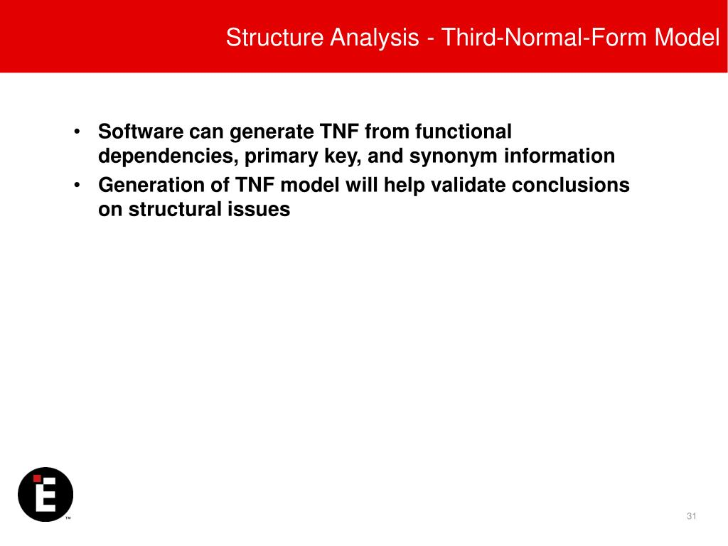 Structure Analysis - Third-Normal-Form Model
