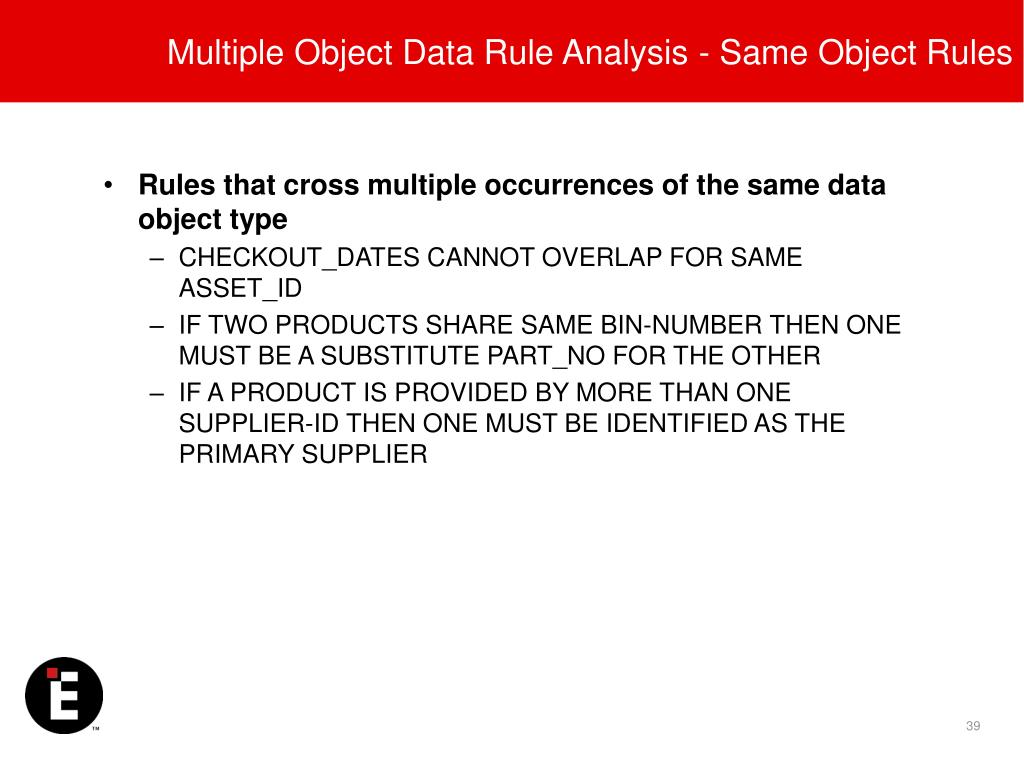 Multiple Object Data Rule Analysis - Same Object Rules