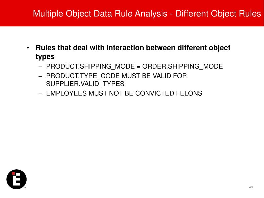 Multiple Object Data Rule Analysis - Different Object Rules