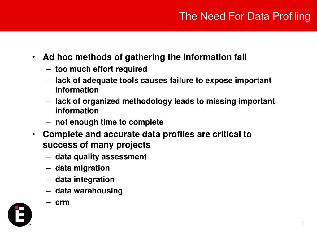 The Need For Data Profiling