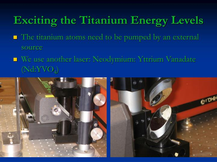 Exciting the Titanium Energy Levels