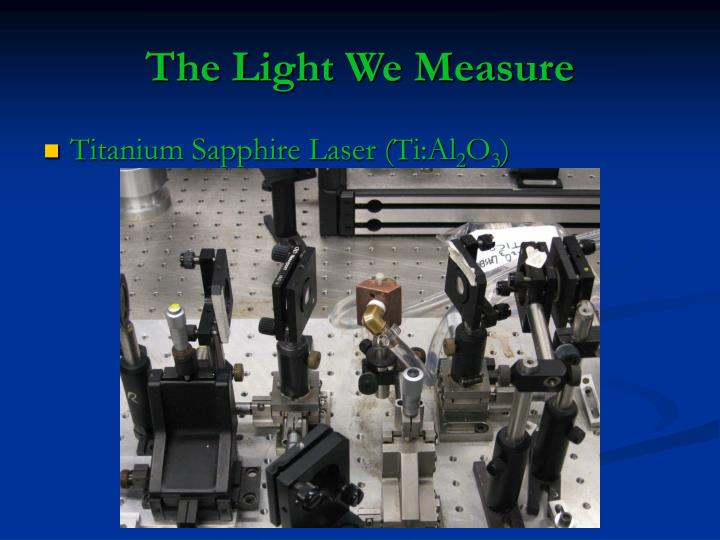 The Light We Measure