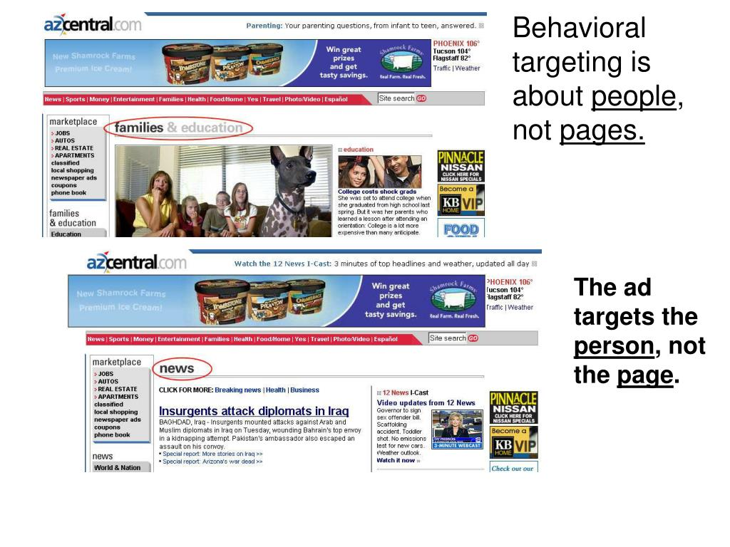 Behavioral targeting is about
